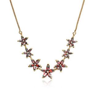 ASAMO Damen Halskette mit Blüten Anhänger mit Swarovski Elements Blumen ZH1023