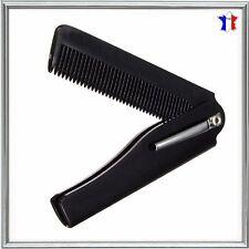 Peigne Pliable de Poche Noir pour cheveux barbe moustache