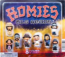 Hey Homies complete set of 8 Homies Big Heads figures in vending display