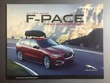 2016 Jaguar F-Pace Accessoies Showroom Advertising Sales Brochure RARE! Awesome