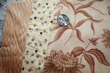 Trumpet Vine Coral Garden Moda Barbara Brackman + Others Quilt Fabric 1.75 Yds