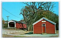 Postcard Mecca Bridge Parke County Indiana # 21 built 1873 Big Raccoon Creek C44