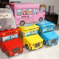 toy storage ottoman kids toy books play box bedroom stool car folding chest seat