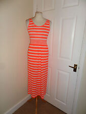 NEW Primark Summer Holiday Dress Size S UK 8-10 Bright Orange Neon Coral