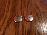 "Lot of 2 1986 Crane Potato Chips CHICAGO CUBS Vintage 7/8"" Pin Pinback Button !!"