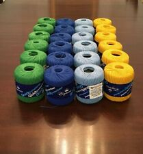 24 roll lot size 3 multicolor QuickThread Crochet Thread (You choose the colors)