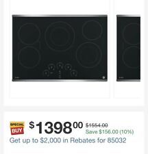 Pp9030Sj1Ss Ge Profile 30-in 5-Element Smooth Stainless Steel Electric Cooktop