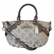 Coach Madison Optical Art Sateen Sophia Satchel Shoulder Purse 17693