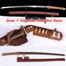 Japanese Army Officer Samurai Katana Sword T10 Steel Clay Tempered Battle Sharp