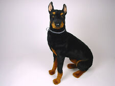 Doberman Pinscher by Piutre, Hand Made in Italy, Plush Stuffed Animal NWT