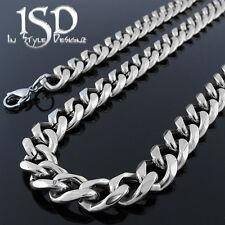 "Stainless Steel Men's Miami Cuban Curb Chain & Bracelet Set Silver Necklace 26"""