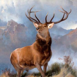 The Monarch of the Glen (1851) Edwin Landseer deer stag wall art poster print
