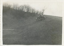 WWII 1940 German soldier riding  motorcycle in hills  Photo 4