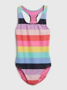 Gap Kids Girl's Multi Stripe Racerback One Piece Swim Suit NWT Various Sizes