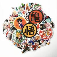 50pcs Anime Dragon Ball Z Super Saiyan Goku Sticker Decals For Student Xmas Gift