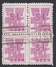 RYUKYU-JAPAN, 1958. Currency 53P1 Block, Used