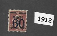#1912  PF60 Used stamp 1921  Memel / Lithuania / Prussia / Third Reich Germany