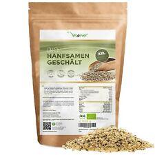 BIO HANFSAMEN 1,1kg / 1100g geschält - Premium Qualität aus Holland Vegan