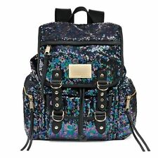 New Juicy Couture Collection Black Multi  Sequined Shimmer Backpack $99