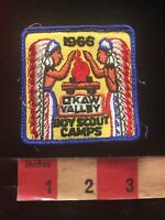 Vtg 1966 OKAW VALLEY Boy Scout Camps BSA Indian Patch - Illinois 84V9