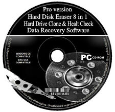Erase Hard Drive Wipe Clean Format + HDD Data Recovery/Backup/Clone/Health Check