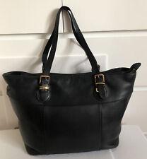 Lauren Ralph Lauren Leather Tote Bag Black