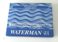WATERMAN FLORIDA BLUE FOUNTAIN PEN INK CARTRIDGES (PACK OF 8)