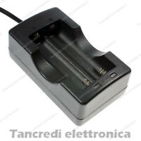 Caricabatterie Doppio Batteria 18650 3,7V Litio Li-Ion Ricarica Svapo E-cig 4,2V