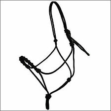Showman Black /& White Nylon ROPE HALTER Sliding Nose Pieces /& 14/' Training LEAD