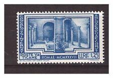 s16612) VATICANO 1938 MVLH* Nuovo Linguellato* Archeologia L.1,25 1v Key stamp