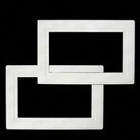 2 x White Finger Plates Light Switch Double Plug Socket Surround Panel Cover