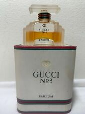 Vintage Gucci No 3 Parfum Perfume .5 fl. oz 15ml in Original Box Partial
