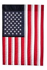 """Embroidered American Flag 12"""" X 18"""" Show United States Patriotic Support"""