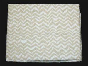 Ralph Lauren Margate Cecily Tan Chevron Stripe CAL KING Fitted Sheet NIP $215