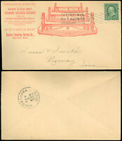 1899 Racine WI, Illust. Advert Cover, ECONOMY SPRING CO., Bolster Springs, #279!