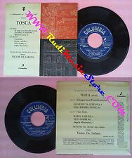 LP 45 7''CORO E ORCHESTRA TEATRO ALLA SCALA Victor De Sabata TOSCA no cd mc vhs
