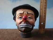 """4-1/2"""" Emmett Kelly the Clown Rubberized Puppet Head"""