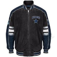 Officially Licensed NFL Colorblocked Suede Jacket by GIII - Cowboys XL