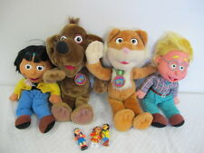 FISHER PRICE PUZZLE PLACE DOLLS BEN SKYE CAT DOG  & 3 FIGURES VINTAGE 1994