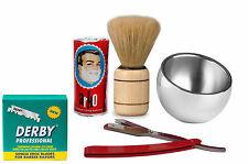 Professional Taglio Gola Barbiere Rasoio da barba e toelettatura Blade Set
