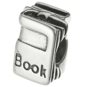 Sterling Silver Student Book Education Reader Bead for European Charm Bracelets