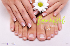 Nail Salon Poster by BARBERWALL with crystal image - (24 x 36 ) inches Laminated
