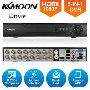 KKMOON H.265+ 4CH/8CH/16CH 1080P AHD DVR Video Recorder for CCTV Security System