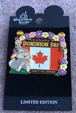 Disney Canada Dominion Day Flag Thumper 2002 ERROR Pin LE NOC