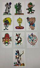 Looney Tunes 1985 Warner Bros 10 Card Sticker Hologram Set Bugs Daffy Elmer Fudd
