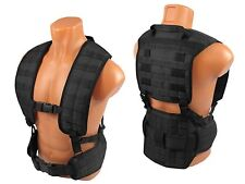 Modular Vest military army paintball black airsoft chest rig molle pals