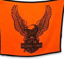Biederlack Harley Davidson Motorcycle Eagle Throw Blanket Plush Reversible 57x46