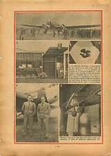 Trimoteur Dewoitine/Le Bourget Air-France/Guynemer Invalides 1933 ILLUSTRATION