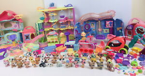 Littlest Pet Shop Huge Authentic Pets, Accessories Play Sets Blue & Pink Magnets