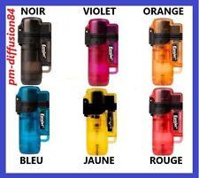 BRIQUET CHALUMEAU - Rechargeable - FROSTY - 7,5 cm x 3 cms - 6 Coloris au choix